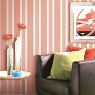 Wall Paper Wallcovering, Modern Style Contracted Stripe PVC Wall Paper