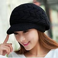 женская мода зима теплая вязаная шапочка