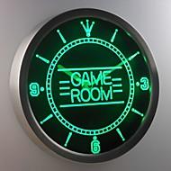 nc0310 Spielzimmer Kinder Mann Höhle Leuchtreklame LED-Wand Uhr
