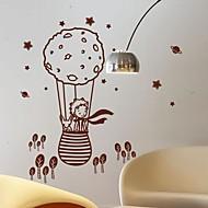 Wandaufkleber Wandtattoos, modern der kleine Prinz und der Fuchs in einem Ballon PVC-Wandaufkleber