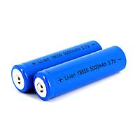 12 Pcs Neutral 18650 3.7V-4.2V 5000mAh Rechargeable Lithium Battery Deep Blue