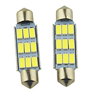 Carking ™ Festoon 41mm-5630-9SMD Auton LED Rooma Lamp White Light (12V/2PCS)