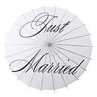 wit Aziatische traditionele houten bruiloft parasol