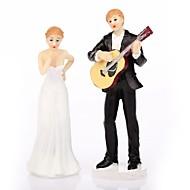 Cake Topper Non-personalized Classic Couple Resin Wedding White / Black Classic Theme Gift Box
