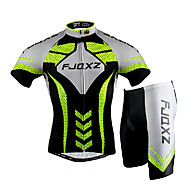 FJQXZ® Cykeltrøje og shorts Herre Kort Ærme Cykel Åndbart Hurtigtørrende Vindtæt Ultraviolet Resistent Forside Lynlås Påførelig 3D Måtte