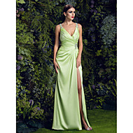 TS Couture® Prom / Formal Evening / Black Tie Gala / Military Ball Dress - Sparkle & Shine / Furcal Plus Size / Petite Sheath / Column V-neckSweep /