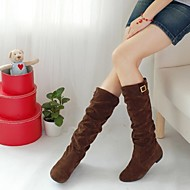 Women's Shoes Round Toe Chunky Heel Flocking Knee High Boots More Colors available