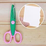 Ножницы с лезвием в форме кружева (зеленый)