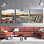 Stretched Canvas Art Landscape Grand Waterfall Set of 3
