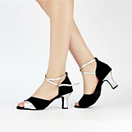 zon lisa latin salsa aanpasbare vrouwenorganisaties sandalen satijn Buckie dansschoenen (meer kleuren)