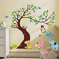zooyoo® scimmia rimovibile sulle autoadesivi della parete dell'albero stickers murali vendita caldo per la decorazione domestica
