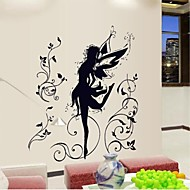 Doudouwo® Wall Stickers Wall Decals, People the Dancing Ballet Girl PVC Wall Stickers