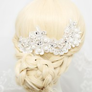 Women's/Flower Girl's Satin/Alloy/Imitation Pearl/Cubic Zirconia Headpiece - Wedding/Special Occasion/Outdoor Barrette