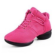 Non Customizable Women's Dance Shoes Dance Sneakers Synthetic Low Heel Black/Pink/Red
