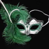 Maszk Csontváz/Halálfej Fesztivál/ünnepek Mindszentek napi kösztümök Zöld Egyszínű Maszk Mindszentek napja Nő PVC