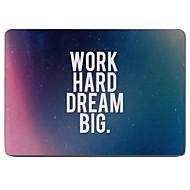 לעבוד קשה וחולם תיק גדול עיצוב גוף מלא מגן פלסטיק ל11 אינץ / אוויר MacBook החדש 13 אינץ