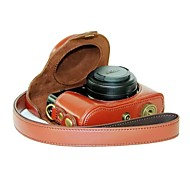 Dengpin® Protective Leather Camera Case Bag Cover with Shoulder Strap for Panasonic Lumix LX7 LX5
