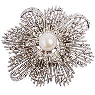 Women's Fashion Resin Rhinestone Flower Stylish Brooches