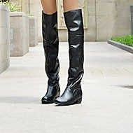 Women's Shoes Round Toe Chunky Heel Knee-high Boots More Colors Available
