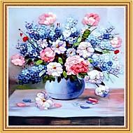 DIY Wandbehänge Wanddekor, pastoralen floralen Romantik 3d stitchwork Leinwand, Malerei, Kunst-Wand-Dekor
