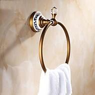 """Kruh na ručníky Vintage mosaz Na ze´d 182x 75x 66mm (7.16 x 2.95x 2.59"""") Mosaz / Keramika / Křišťál Vintage"""