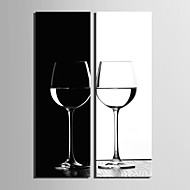 Stretched Canvas Art Still Life B&W Goblet Set of 2