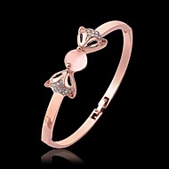 Fashion Animal Shape Rose Gold Plated Opal Crystal Bangle Bracelets (Rose Gold)(1Pc)