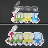 1pcs Vorlage klar pegboard bunten Zug Muster für 5mm Hama Perlen Bügelperlen DIY Puzzle