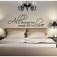 jiubai ™ kærlighed citat wallsticker wallstickers