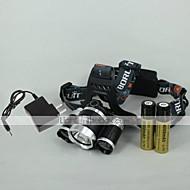 Osvětlení LED svítilny / Čelovky LED 3000 Lumenů 4.0 Režim Cree XM-L T6 18650 Nastavitelné zaostřování / DobíjecíKempování a turistika /