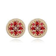 Stud Earrings Women's Gold/Brass Earring Cubic Zirconia