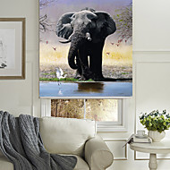 Realistic Vivid Elephant Roller Shade