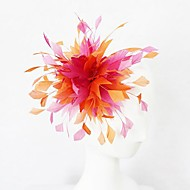 Orange and Fuschia Feather Women's Fascinator