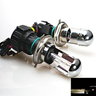 35W 12V  H4 4300K Xenon Hi/Lo Beam HID Replacement Bulbs For Headlight
