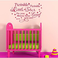 JiuBai® Child Room Star Quote Wall Sticker Wall Decal