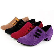 Non Customizable Women's Dance Shoes Modern Suede Low Heel Other