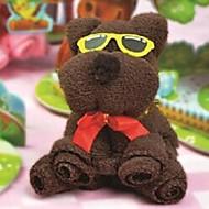 cadeau d'anniversaire fibre de forme ours serviette créatrice (couleur aléatoire)