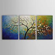Pintados à mão Floral/Botânico 3 Painéis Tela Pintura a Óleo For Decoração para casa