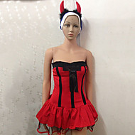 Sexy Women's Hot Red Devil Halloween Costume(3 Pieces)