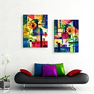 Reprodukce na plátně umění slunečnice akvarel abstraktní výzdoba malba sada 2