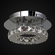 6W Flush Mount ,  Modern/Contemporary Chrome Feature for Crystal / LED Metal Living Room / Bedroom / Entry / Outdoors