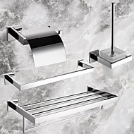 PHASAT®,Bathroom Accessory Set Stainless Steel Wall Mounted Stainless Steel Contemporary