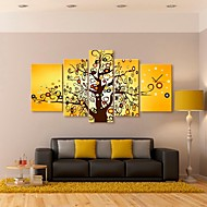 The Color Of The Tree Clock in Canvas 5pcs