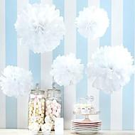 Gyöngyház fényű papír Esküvői dekoráció-4Piece / Set Ponponok, szalvéta dekorBál / Karácsony / Új Év / Diplomaosztó ünnepség /