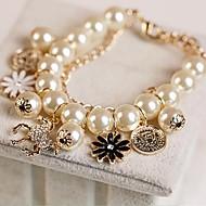 Mode Perle Blume mit ms Armband gefüllt
