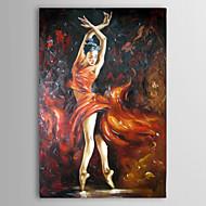 Ručno oslikana Ljudi Jedna ploha Platno Hang oslikana uljanim bojama For Početna Dekoracija