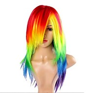 Frauen cosplay My Little Pony Rainbow Dash multi color hitzebeständige Perücke