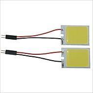 Carking™ T10 / BA9S / Festoon 28mm~40mm 3.4W 24-COB LED White Car Interior Dome Light(2PCS)