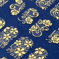 108 ein Blatt goldenen Blume 3D Nagel Art Aufkleber Decals Dekorationen Heißpräge