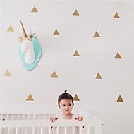 jiubai® guld trekant wallsticker wallstickers, 36 trekanter / sæt